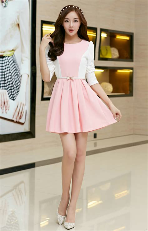 Dress Korea korean 2014 princess dress fitted sweet pink