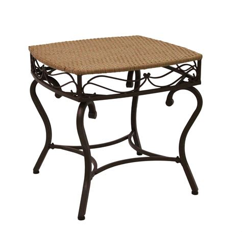 Valencia Side Table Valencia Resin Wicker Steel Square Side Table By International Caravan In Patio Side Tables