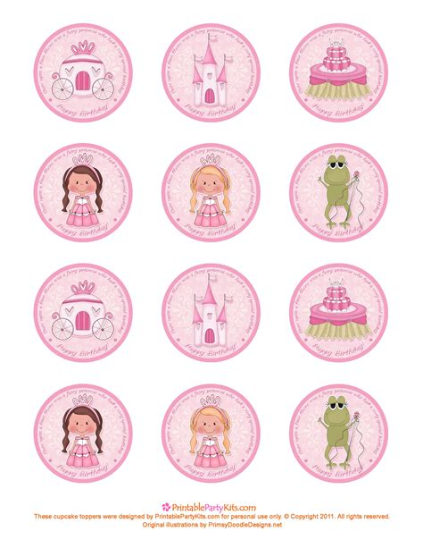 printable card toppers free free printable princess birthday cupcake toppers
