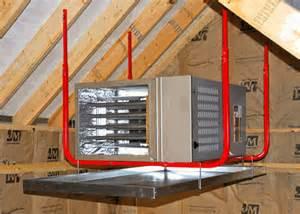 garage a c heater ceiling mount