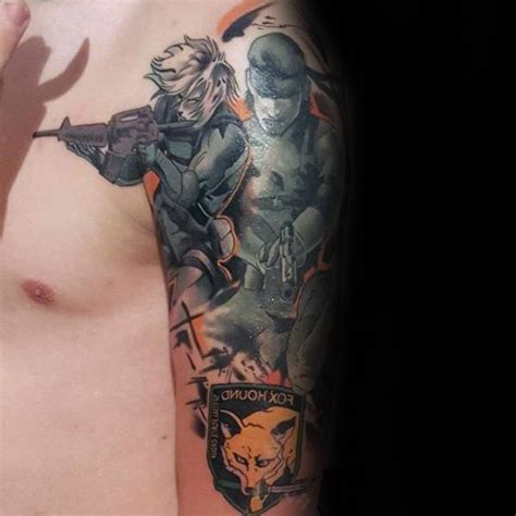 metal gear tattoo foxhound metal gear solid metal pictures to pin on