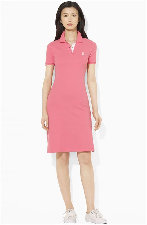 Dress Polos 2 by ralph sleeve polo dress in pink pink lyst