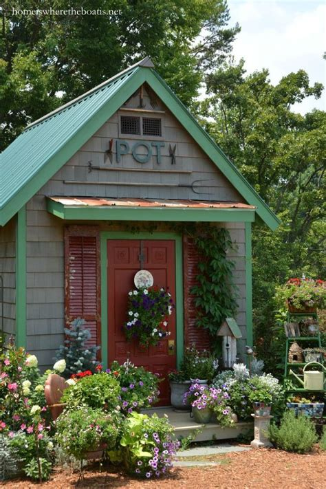 hometalk garden sheds and potting benches somewhat