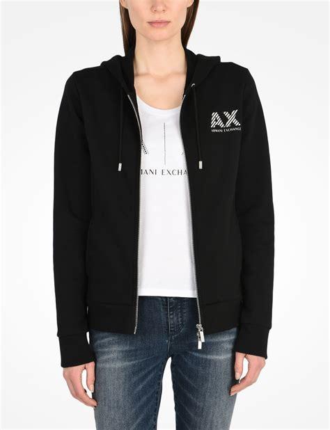 Sweater Pria Fleece Jaket Zipper Hoodie Distro Infcl Eklusif armani exchange stripe logo zip hoodie fleece jacket for a x store