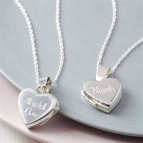 Necklace By personalised sterling silver locket necklace by hurleyburley notonthehighstreet