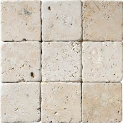 ivory classic tumbled travertine tiles 4x4 marble system inc