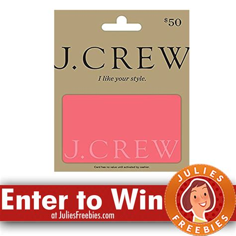 J Crew Gift Cards - 15 winners win a j crew gift card julie s freebies