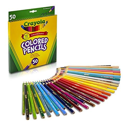 50 crayola colored pencils crayola colored pencils 50 count coloring buy