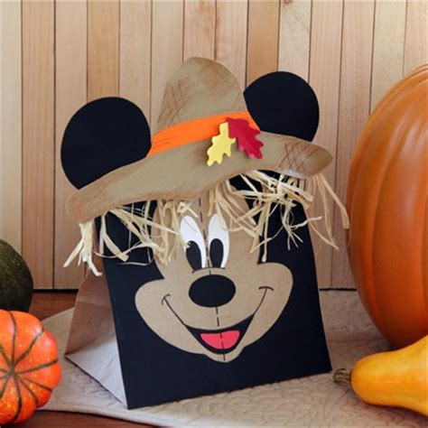 mickey mouse crafts for mickey s paper bag scarecrow scarecrows scarecrow