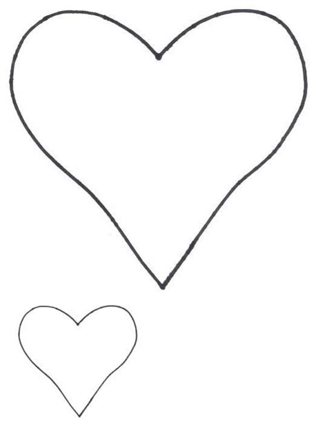pattern for heart applique heart shapes heart patterns for applique freeapplique com
