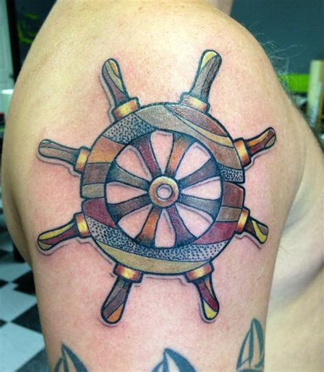 boat wheel tattoo boat tattoos designs ideas and meaning tattoos for you
