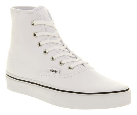 Vans Authentic Icc White vans authentic hi white canvas in white for lyst