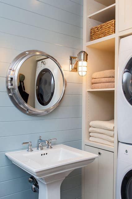 concord poolhouse beach style bathroom boston sean litchfield photography