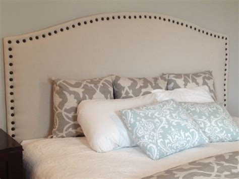 Diy Upholstered King Headboard Diy King Headboard On New S Corner Diy Upholstered Headboard With Nail Trim The