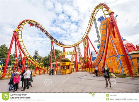 theme park vienna prater amusement park in vienna austria editorial image