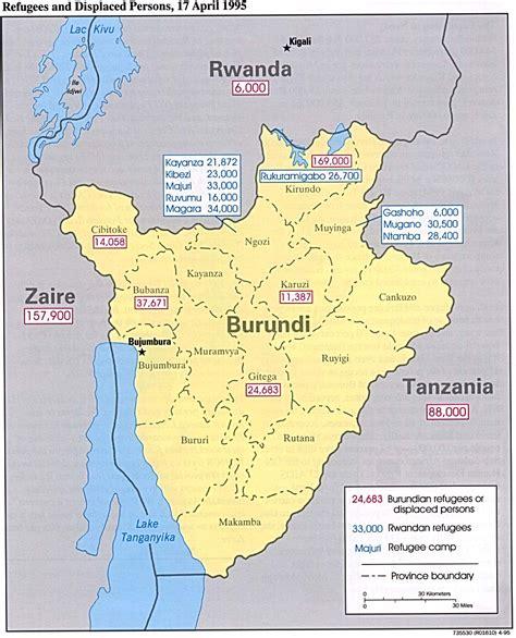 africa map burundi maps of burundi