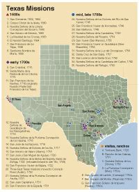 map of missions in texas the missions in texas texas almanac