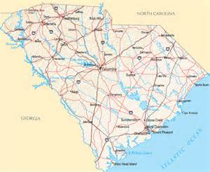carolina state map with cities south carolina map map of south carolina