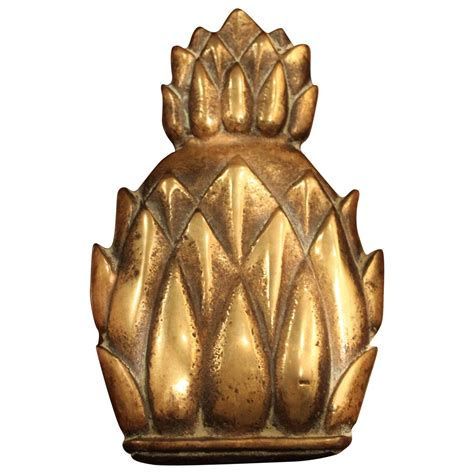 antique brass pineapple door knocker 19th century