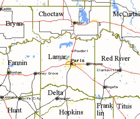 lamar county texas map txgenweb lamar county texas
