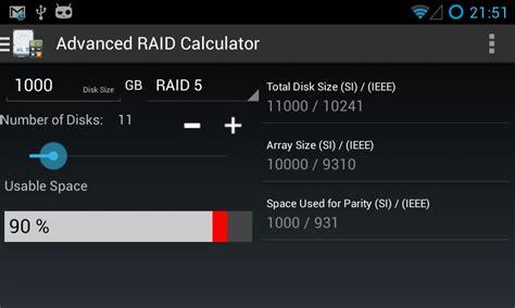 calculator raid advanced raid calculator android apps on google play