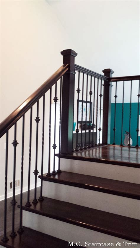banister railing installation 1000 ideas about iron balusters on pinterest staircase