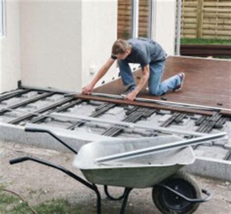 terrasse wpc bauen terrasse bauen mit hornbach