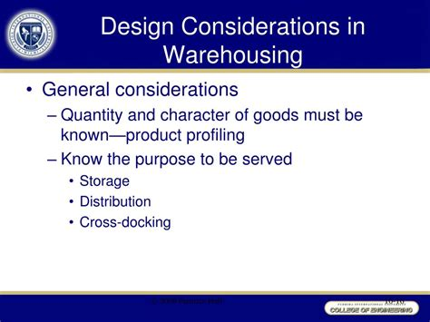 warehouse layout design considerations ppt chapter 10 warehousing management powerpoint