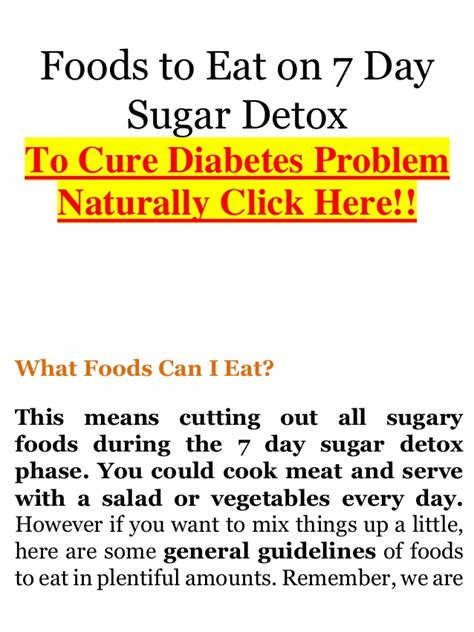 How To Detox When You Diabetes by 7 Day Cutting Diet Plan Dbnews
