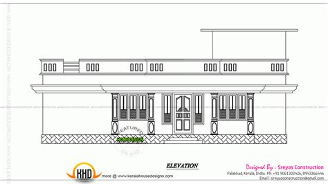 kerala home design 2d small house elevation with 3d rendering and 2d drawing