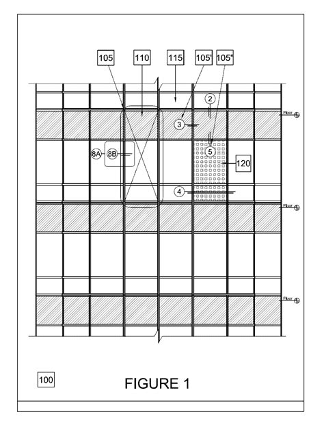maximum glass size curtain wall patent us20100071274 unitized curtain wall module