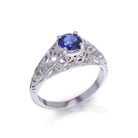filigree sapphire ring jewelry designs