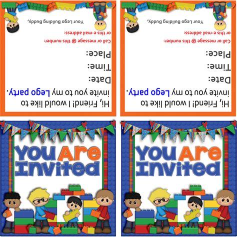 printable lego invitation free the cherry on top free lego goodies and ideas