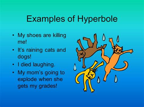 exle of hyperbole also known as figures of speech ppt