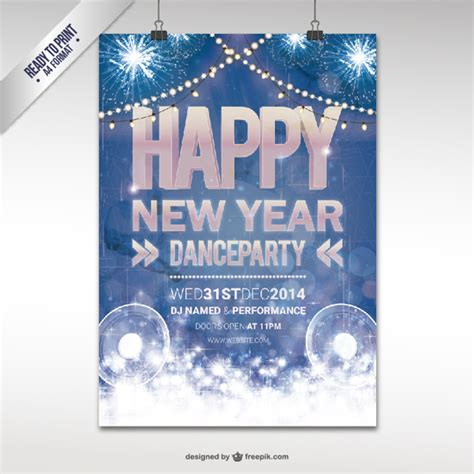 new year cmyk cmyk new year poster vector free