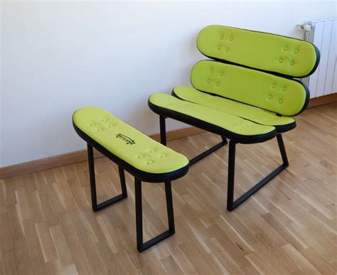 skateboard chairs cool furniture ideas with skateboard style from skate home