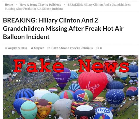chelsea clinton boating accident fake news hillary clinton did not die in hot air balloon