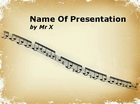 music notation sheet powerpoint template