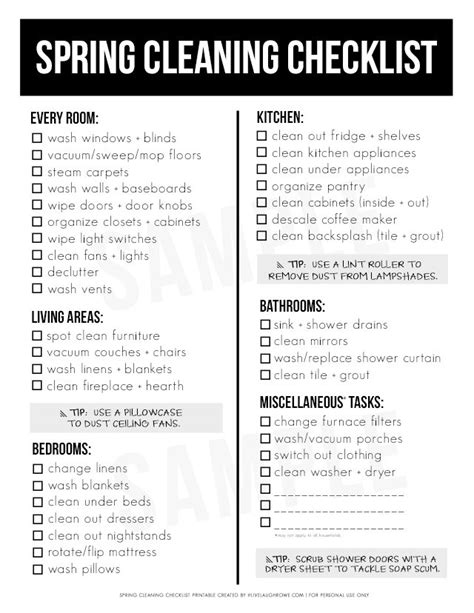 spring cleaning checklist printable spring cleaning must haves and printable checklist live