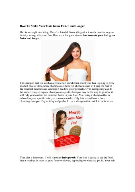 how to your fast how to make your hair grow faster and longer