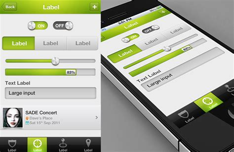 iphone app design templates prolific ios custom controls template iphone and ios