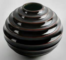 Art Deco Ceramic Vases Art Deco Ribbed Ceramic Vessel At 1stdibs