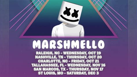marshmello tour dance music events festivals by disco donnie presents