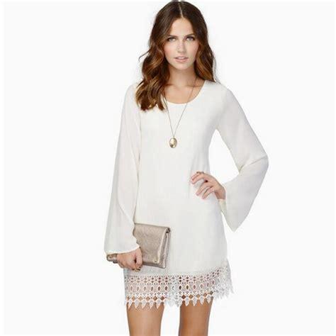 new fashion black white chiffon lace shift dress