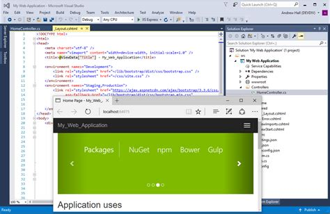 design application visual studio visual studio 2017 rc