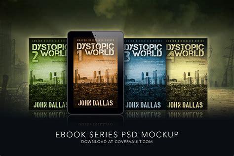 ebook template psd 5 x 8 dystopian ebook series mockup covervault