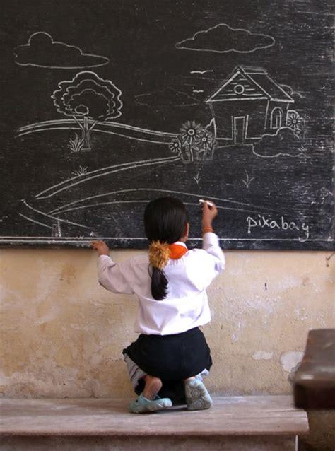 chalkboard painting class free images writing landscape wall blackboard