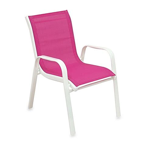 pink outdoor chair buy stacking patio chair in pink from bed bath beyond