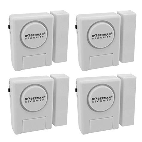 Alarm Pintu Doorwindow Entry Alarm doberman security window door alarm kit 4 pack ebay
