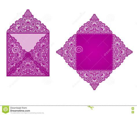 Square Wedding Invitation Template by Square Laser Cut Invitation Template Vector Illustration